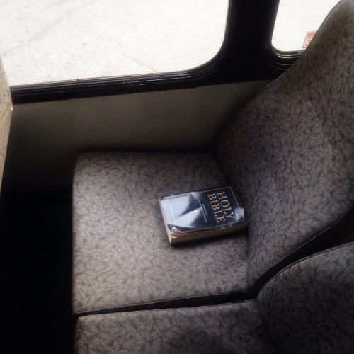 bible on the bus